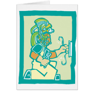 Mayan elektriker hälsnings kort