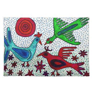 Mayan fågelbordstablett bordstablett