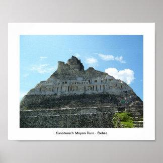 Mayan fördärva Xunatunich Poster