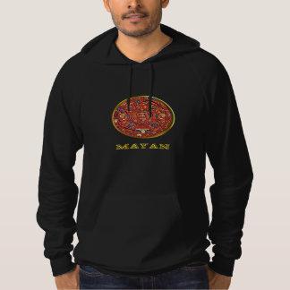 Mayan indiska t-skjortor tröja med luva