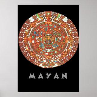 Mayan kalender affisch