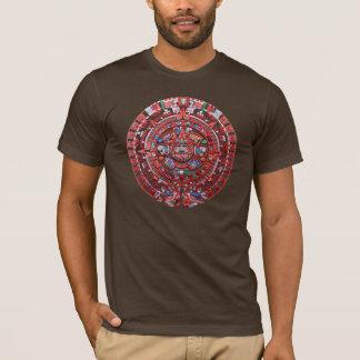 Mayan kalender för metall t-shirts