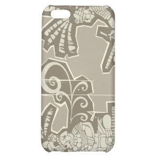 Mayan kung A för träkloss iPhone 5C Skydd