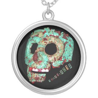 Mayan Mask-2012 Silverpläterat Halsband