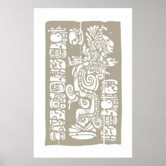 Mayan visionorm och skåror poster