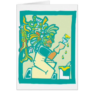 Mayan yrkesmässig målare kort