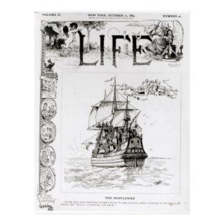 Mayfloweren, beklär täcker från 'Life Vykort