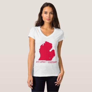 Mayniax som brännmärker kvinnor för vitAnn Arbor Tee Shirt