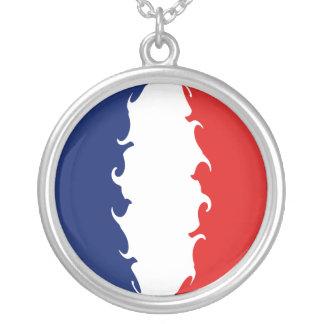 Mayotte Gnarly flagga Halsband Med Rund Hängsmycke