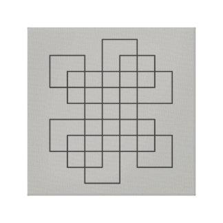 Maze på grå färg canvastryck