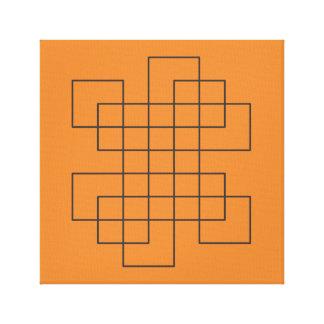 Maze på orangen canvastryck