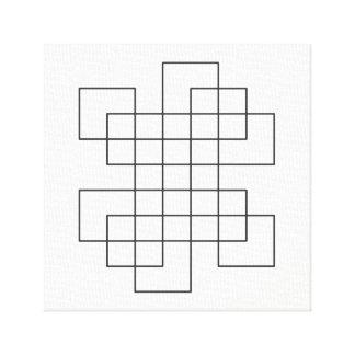 Maze på vit canvastryck