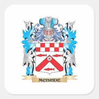Mcbride vapensköld - familjvapensköld fyrkantigt klistermärke