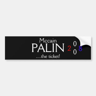 Mccain Palin Bildekal