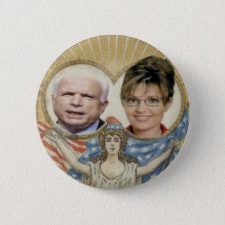 McCain/Palin damfrihet knäppas Standard Knapp Rund 5.7 Cm