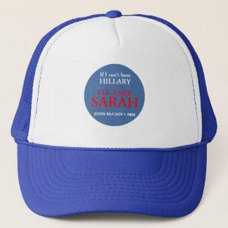 McCain Palin HILLARY hatt Truckerkeps