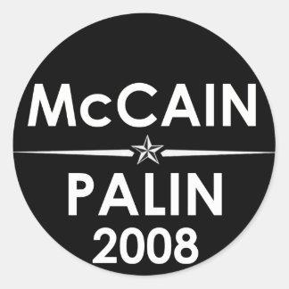 McCain - Palin klistermärke 2008