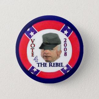 McCain som rebellen knäppas Standard Knapp Rund 5.7 Cm