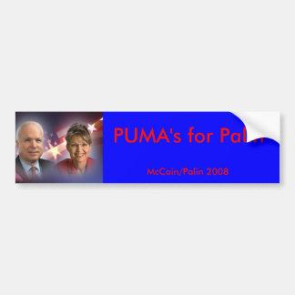 mccainandpalinsticker puma för Palin, McCain… Bildekal