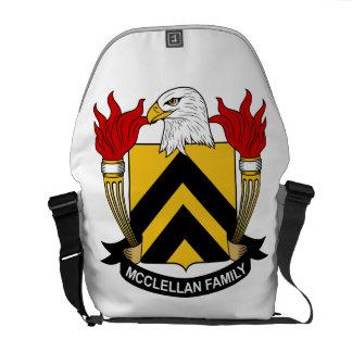 McClellan familjvapensköld Kurir Väska