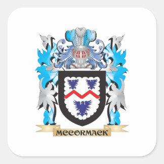 Mccormack vapensköld - familjvapensköld fyrkantigt klistermärke