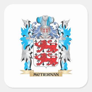 Mctiernan vapensköld - familjvapensköld fyrkantigt klistermärke