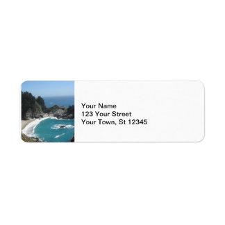 McWay nedgångar - stora Sur Returadress Etikett