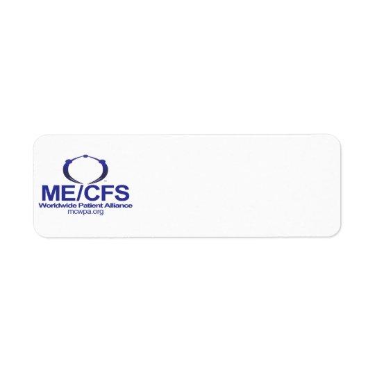 MCWPA-adressetiketter Returadress Etikett