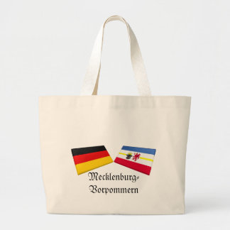 Mecklenburg-Vorpommern Tysklandflagga belägger med Tygkassar