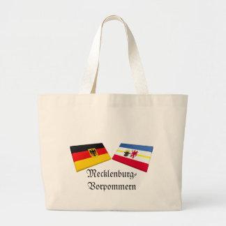 Mecklenburg-Vorpommern Tysklandflagga belägger med Tote Bag