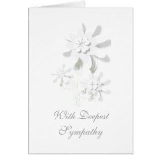 """""""Med blom- hälsningkort för djupast sympati"""" Hälsningskort"""