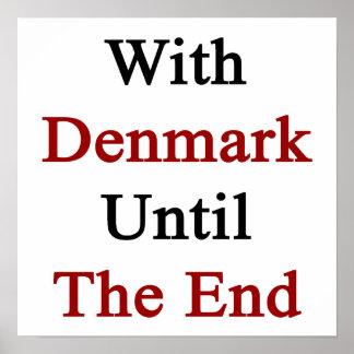 Med Danmark till avsluta Poster
