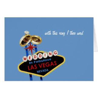 med denna ring gifta sig jag theen det Las Vegas b