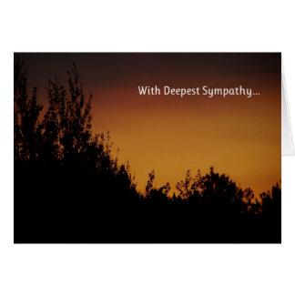 Med djupast sympati… hälsningskort