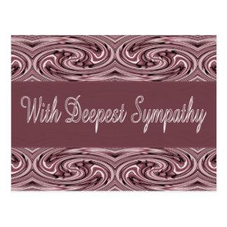 Med djupast sympati vykort