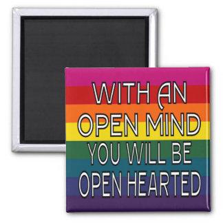 Med ett öppet vara besvärad dig ska är öppet -hjär magnet