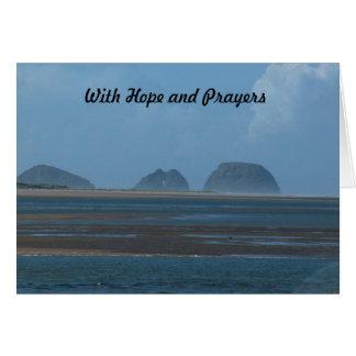 med hopp och böner hälsningskort