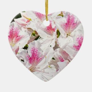 Med kärlek! hängande Azaleas för prydnadgåvarosor Julgransprydnad Keramik
