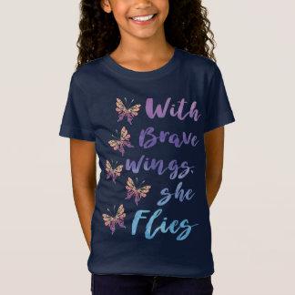 Med modig vingar flyger hon t shirt