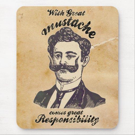 Med underbar mustasch kommer underbart ansvar musmattor