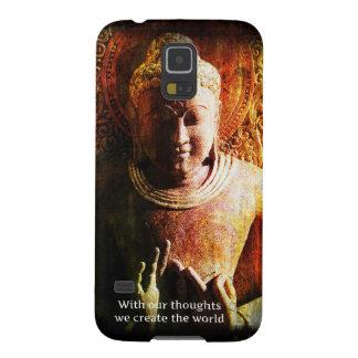 Med våra tankar skapar vi det världsBuddha Galaxy S5 Fodral