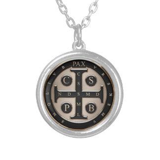 Medalj för St. Benedict Halsband Med Rund Hängsmycke