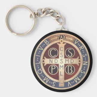 Medalj Keychains, olik stilar för St. Benedict Rund Nyckelring