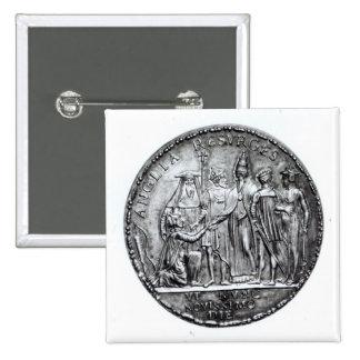 Medalj som slås av Pope Julius III Standard Kanpp Fyrkantig 5.1 Cm