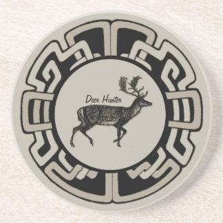 Medaljong för personlighjortjägare underlägg sandsten