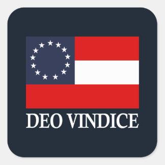 Medborgare för CSA 1st (Deo Vindice) Fyrkantigt Klistermärke