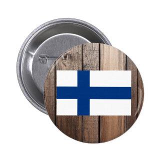 Medborgareflagga av Finland Standard Knapp Rund 5.7 Cm