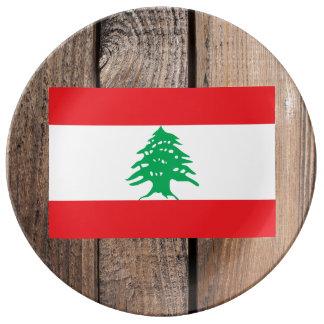 Medborgareflagga av Libanon Porslinstallrik