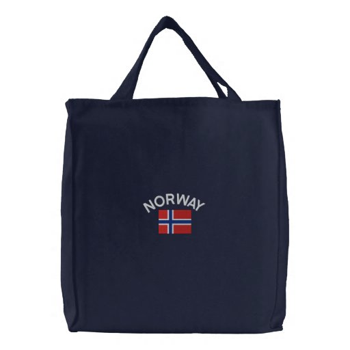 Medborgareflagga av norgen broderad kasse