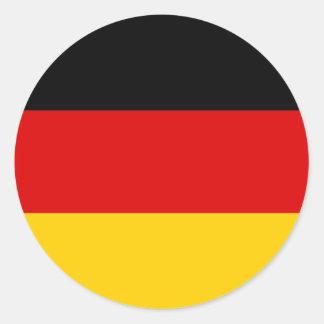 MedborgareflaggaTyskland Runt Klistermärke
